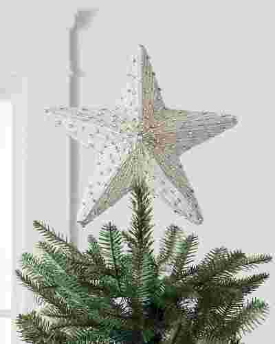 White Jeweled Star Tree Topper by Balsam Hill SSC
